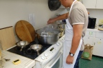 Cooking in batches, only takes a couple minutes
